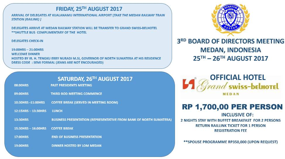 2017 - 3rd bods meeting in medan indonesia - 2